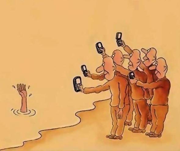 afogamento selfie